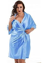 Nine X – Bata Kimono Corta de satén tamaños S de 6 x ...