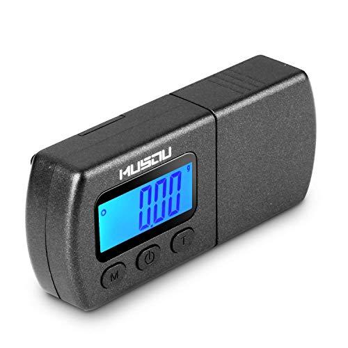MUSOU Tester Maßstab Kraft von Eingabestift für Plattenspieler Waage 0.01 g LCD Hintergrundbeleuchtung blau für Arm Plattenspieler Phono Musikkassette - Schwarz Matt