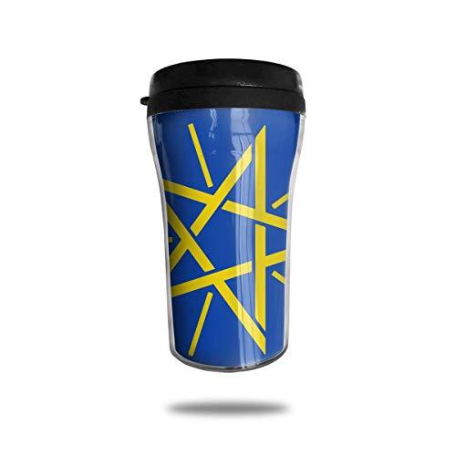 Klassische Reise-Becher-Flagge von Äthiopien-Reise-Becher-Becher für Kaffee, Wein, 8 Unze, dicht