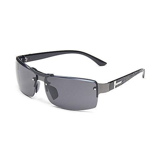 Mode Brillen Herren-Sonnenbrille Retro Square Sonnenbrille UV-Schutz Sport-Sonnenbrille Driving Metal Frame für das Reisen Baseball Occhiali (Farbe : Schwarz)