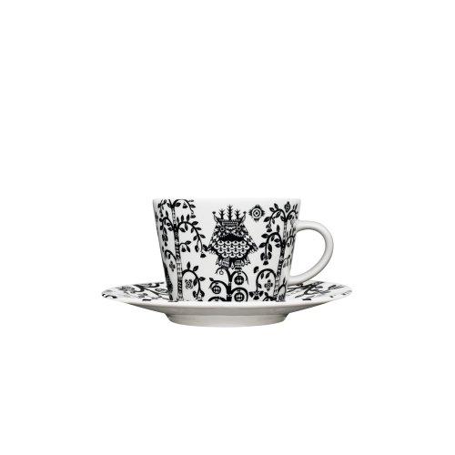 Iittala Taika Negro Café / Cappuccino Copa Saucer