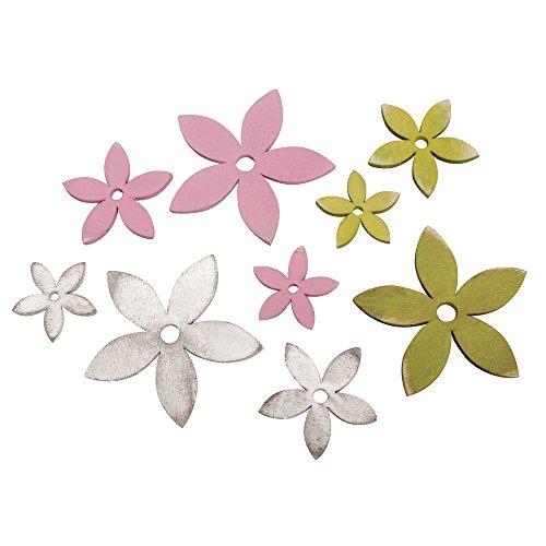 rayher-56572000-elementi-decorativi-in-legno-summer-feeling-fiori-3-6-cm-3-colori-assortiti-9stueck