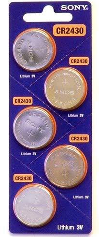 Pile bouton lithium CR 2430 300 mAh 3 V Sony 5 pcs