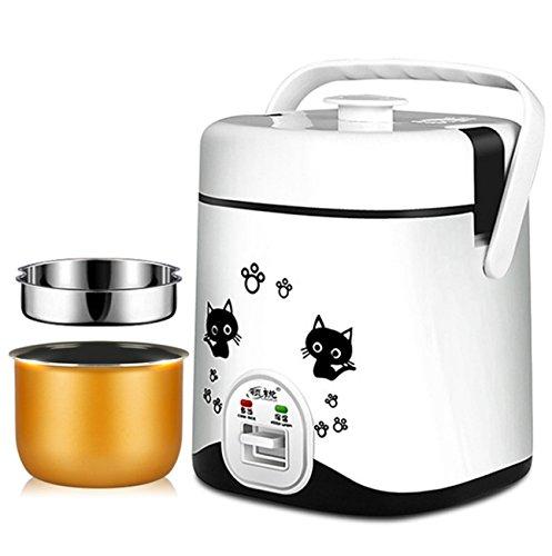 ZXMXY Reiskocher Multifunktions-Elektro-Slow Cooker Küche perfektioniert automatische Antihaft-Herd (Liner wünschenswert und nicht wünschenswert, 1.2L, 220W) (Farbe : Weiß, Design : Liner desirable)