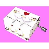 Caja de música boda 2 palomas caja de música moderna