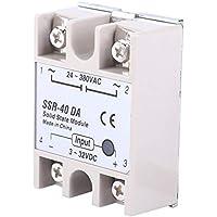 Relé de estado sólido, Relé de estado sólido de 20 A, Controlador de temperatura Relé de estado sólido de 40 A Cable de sonda de termopar tipo K de CA 100~240 V