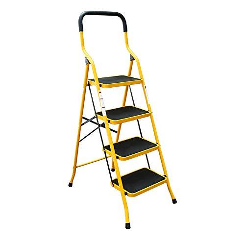 LSX-Step Hocker Schritt-Schemel - 4 Schritt-Schritt-Schemel-Stühle für Erwachsene faltende Leiter mit Griff-Innenküche Portable Stepladder/Speicher-Regal/Schemel/Blumen-Gestell OYO (Töpfchen Stuhl Griffe)