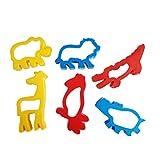 TOYMYTOY 6pcs foresta animale Cookie Cutter Set di biscotti di plastica Kit di modellazione Giocattoli educativi per bambini