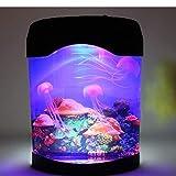 Gearmax® Novità LED meduse artificiale illuminazione acquario lampada luce di notte, cambia colore