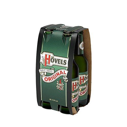 Hövels Original 4x 0,33l MEHRWEG-Flaschen im Träger
