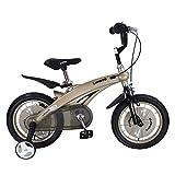 Wanlianer Liegerad Kinder Jungen Gilrs Fahrrad Freestyle Kind Sport Fahrrad mit Stablizers in Größe Zoll 12,14 Alter 3+ Innen- (Farbe : Golden, Größe : 14 inch(90-110cm))