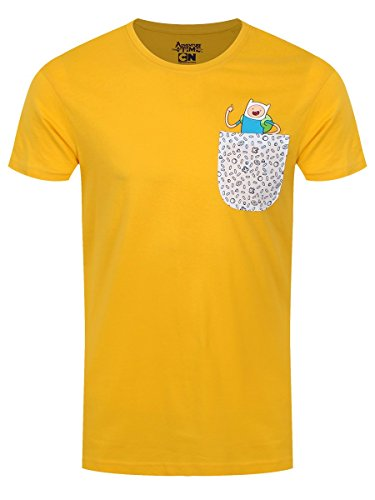 Adventure Time Jake & Finn T-Shirt gelb L