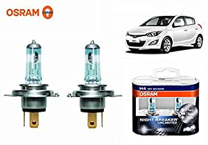 Osram H4 6000k Car Night Breaker Unlimited Headlight Bulbs -Hyundai i20 Elite
