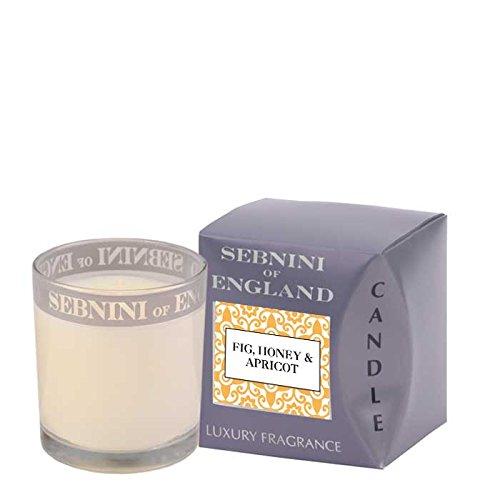 Sebnini - Candela profumata al fico, miele e albicocca, in barattolo di vetro, (Miele Candela Profumata)