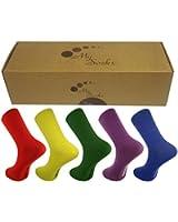 Mysocks® einfarbige Socken -Geschenk-Kasten Kombi 001 Größe 42-46