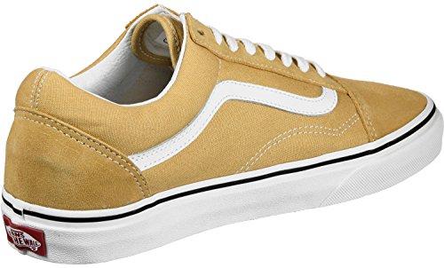 Vans Old Skool, Chaussures de Running Mixte Adulte Jaune (Ochre/true White Qa0)