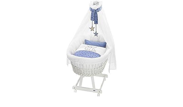 Alvi stubenwagen birthe weiß komplettangebot bärenkinder blau