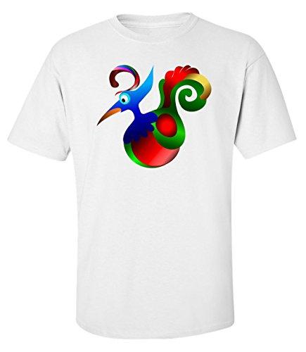 Canard coloré t-shirt homme blanc (L)