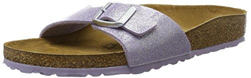BIRKENSTOCK Classic Damen Madrid Birko-Flor Pantoletten, Violett (Magic Galaxy Lavender), 42 EU