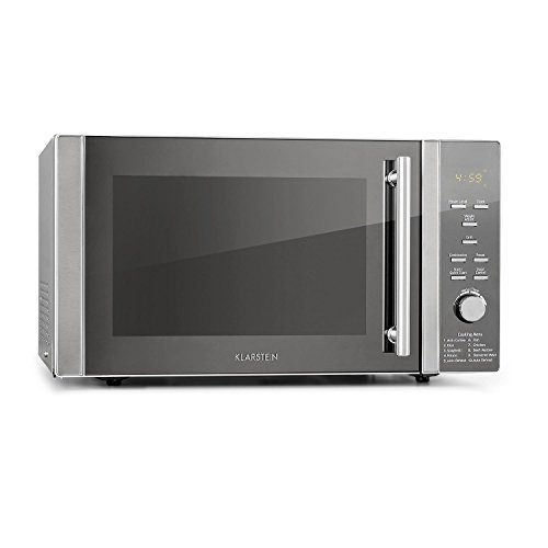 41CzUm7QTwL. SS500  - Klarstein Luminance Prime 34L Microwave - Microwave Grill Combination, 34-Litre Cooking Space, Microwave: 1000 W, Grill: 1300 W, 11 Power Levels, 9 Automatic Programs, 2 Combo Functions, White