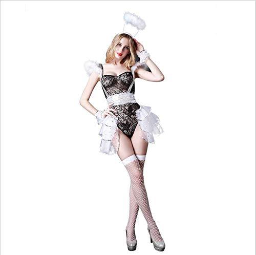 Sexy Bunny Girl Geile Unterwäsche Spitze Sexy Dessous Baby Doll für T-Shirts Reverse Krawatte Hasenohren Tail Lace Krawatte Set Transparente Extra Freie Größe