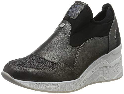 Mustang Damen 1319-401-987 Slip On Sneaker, Schwarz (Schwarz/Glitzer 987), 38 EU