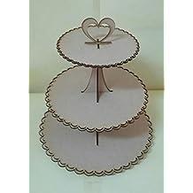 Kit para hacer bandejas 3 pisos de madera DM para candy bar mesa dulce. Manualidades