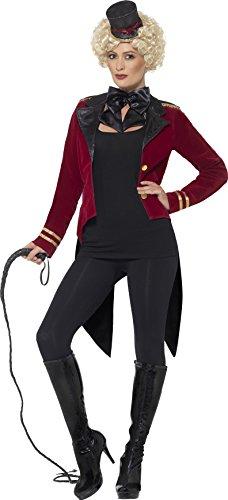 Halloween Stiefel Kostüm Tragen (Smiffy's 24633L - Damen Zirkus-Direktorin Kostüm, Größe: 44-46,)
