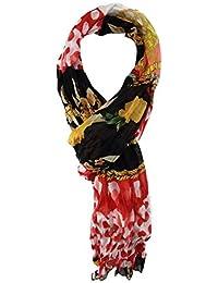 4c9baf022c9e TigerTie - Echarpe - Motifs - Femme Rouge Rot Schwarz Gelb Weiß Taille  unique