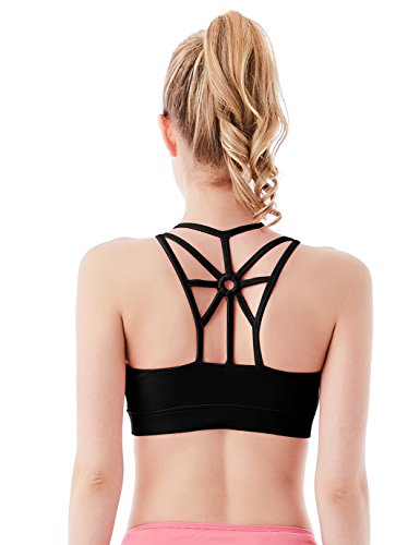 Jimmy Design Fitness Vest Gym Removable Padded Bra S