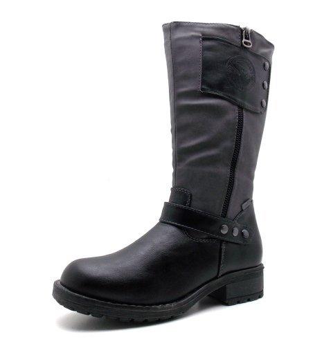 Indigo bottes de la marque indigo - 466438 noir/gris