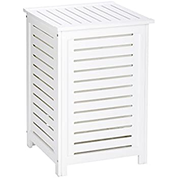 Wenko 21857100 Oslo White wooden Laundry Basket 86.0 x 21 x 42 cm  sc 1 st  Amazon UK & Antique White Laundry Bin Wooden Linen Basket Storage Box Small ... Aboutintivar.Com