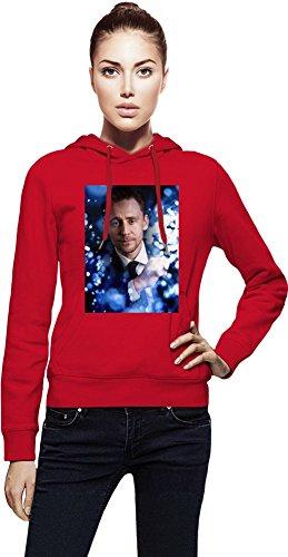 Tom Hiddleston Sparkle Frauen Kapuzenpullover X-Large