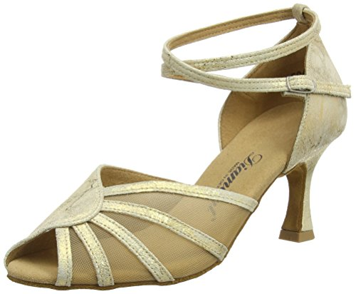 Diamant Diamant Latein 020-087-017 Damen Tanzschuhe - Standard & Latein, Damen Tanzschuhe - Standard & Latein, Gold (Gold Magic), 37 1/3 EU (4.5 Damen UK)