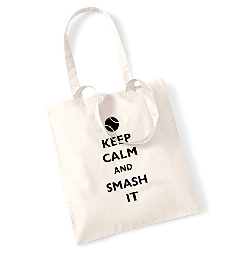 Keep calm and it smash-Borsa natur