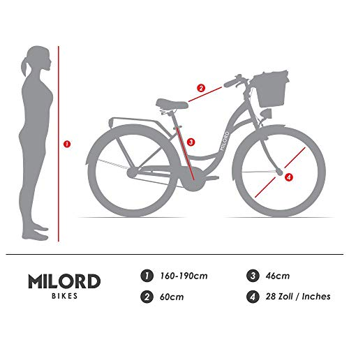 Zoom IMG-3 milord 2018 comfort bike con