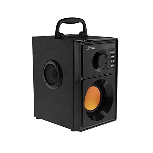 Media-Tech Boombox BT Stereo 15W Rechteck schwarz Stereo, tragbare Lautsprecher (verkabelt und kabellos, Batterie/Akku, USB, 80–20.000Hz, Bluetooth, Universal)