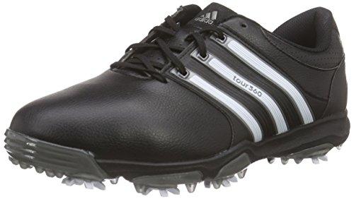 adidas Herren Tour360 X WD Golfschuhe, Schwarz (Black/White/Dark Silver Metallic), 46 (Golf Wrap Adidas)