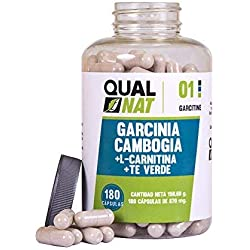 Garcinia Cambogia con L-Carnitina y te verde para reducir el apetito y acelerar el metabolismo - Suplemento alimenticio con propiedades adelgazantes - Potencia el rendimiento deportivo -180 cápsulas.
