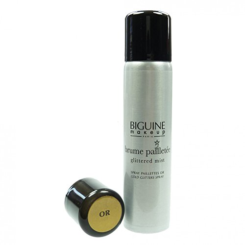 BIGUINE Glitzerspray Gold Körper Haar Spray - 75ml Pflege Kosmetik Make Up