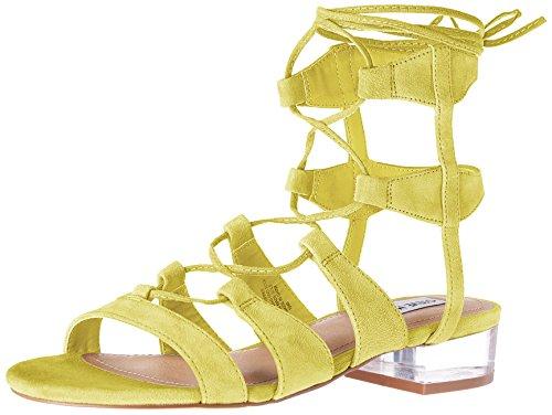 Steve Madden Women's Chely Gladiator Sandal, Yellow Suede, 7.5 M US (Madden Steve Gladiator)