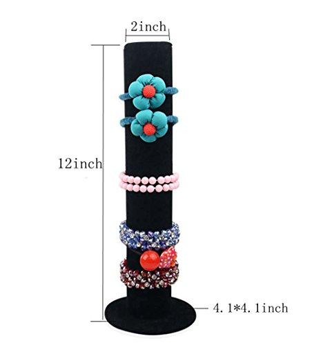Bocar-terciopelo-Vertical-torre-soporte-de-pantalla-joyas-pulsera-brazalete-T-bar-pantalla-soporte