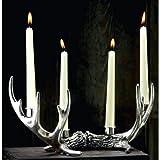 Homezone Rustikale Ornamental 3 Konus Geweih Stil Kerzenständer 4 Kerze Kapazität Teelicht Halter Tisch Mitte Teile Wohndeko Ornamental Kerze Bay Tisch Einstellungen & Geschenke Geschirr