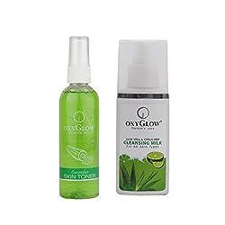 Oxyglow Aleo Vera & Citrus Deep Cleansing Milk With Cucumber Skin Toner