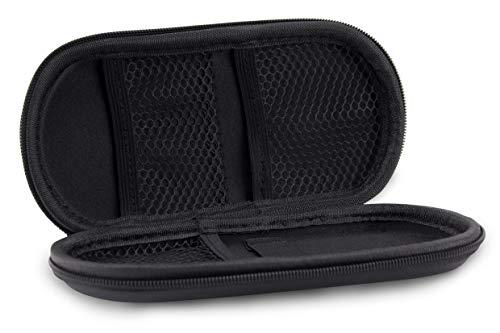Aufbewahrungs-Etui Ego für E-Zigaretten und E-Shishas ideal als Tasche Hülle Bag Case zum Schutz oder für Liquids und Zubehör Schwarz