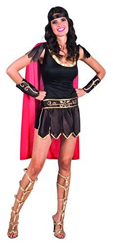 Boland Gladiatrice Romana Costume Donna per Adulti, Marrone/Rosso, M 83807