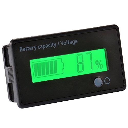 Washati® Spannungs- & Kapazitätsanzeige 8-70V für 12V/24V/36V/48V Blei oder (3S-15S) Lithium Akkus