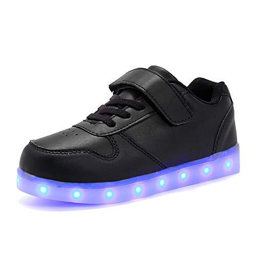 Licy life-uk unisex bambini ragazzi ragazze scarpe sneakers led lampeggiante usb ricaricabile 38 colori colorati regalo natale capodanno compleanno