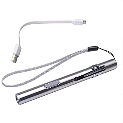 Taschenlampe, bbring Portable USB aufladbare LED Taschenlampen Wasserdicht Mini-Taschenlampe Schlüsselanhänger Lampe Akku ist nicht im Lieferumfang enthalten