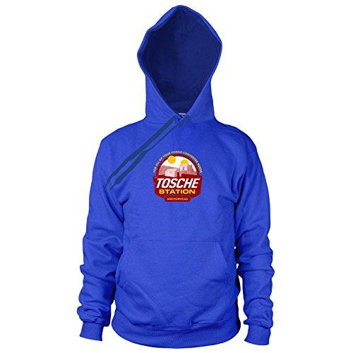 (Tosche Station - Herren Hooded Sweater, Größe: XL, Farbe: blau)